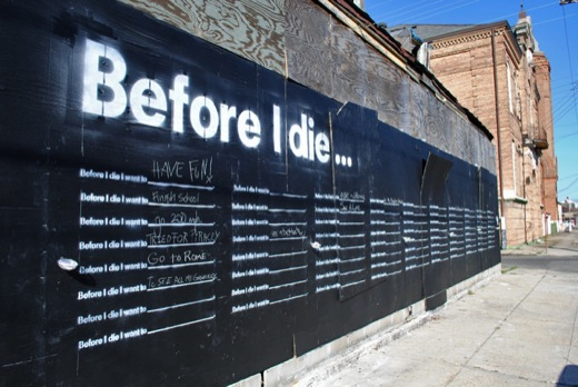 Before i die Angled Wall