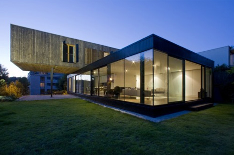 Cantilever Night Home Photo