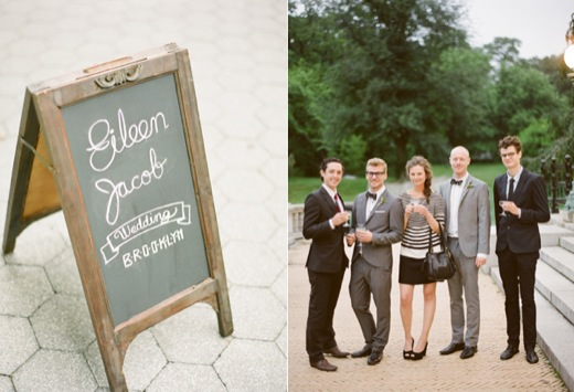 Chalkboard Wedding Sign Chic Guests