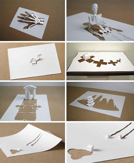 Cut 3d Paper Craft Sculpture 1