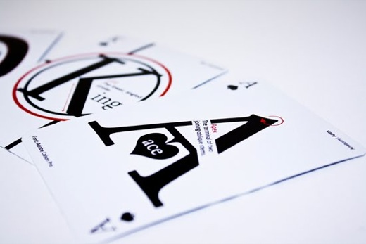 Design Fetish Typographic Playing Cards 3