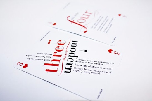 Design Fetish Typographic Playing Cards 7
