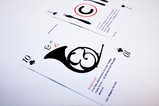 Design Fetish Typographic Playing Cards 8