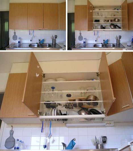 Dish Hanging Hidden Rack