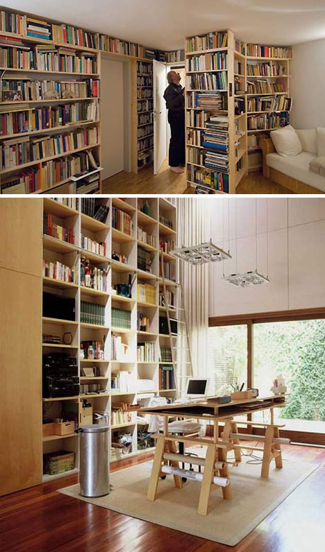 Floor Wood Book Storage