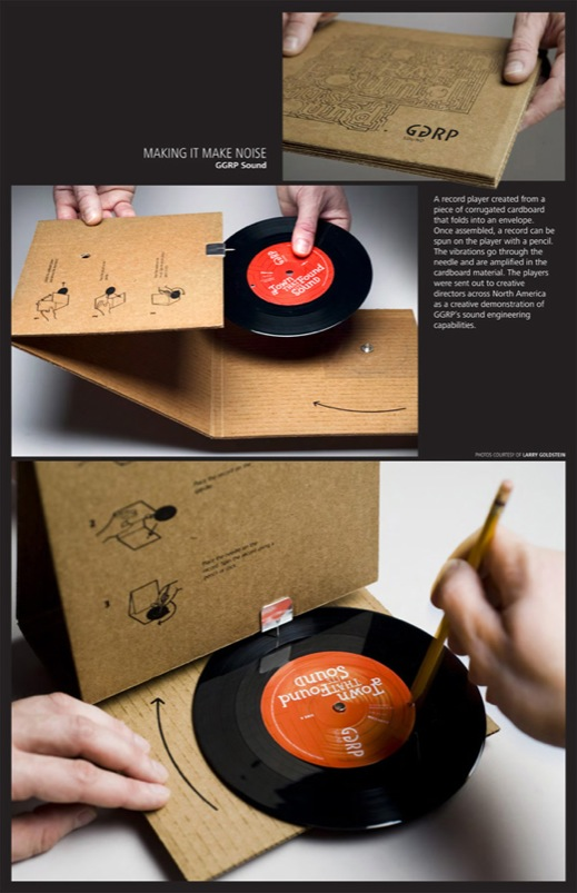 Ggrp Sound Cardboard Record Player