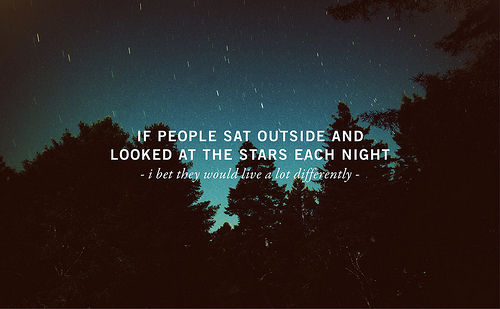 If People Looked at the Stars