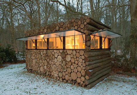 Modern Camouflage log Cabin