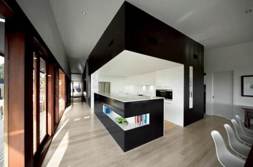 Modern Minimalist Kitchen Australian House 500x 329