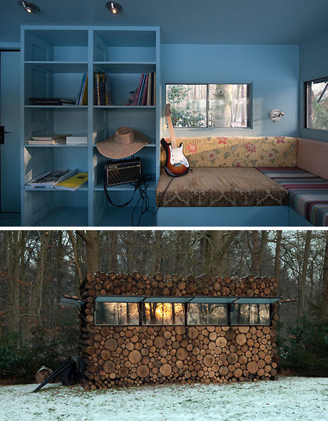 Modern Modular log Cabin Interior