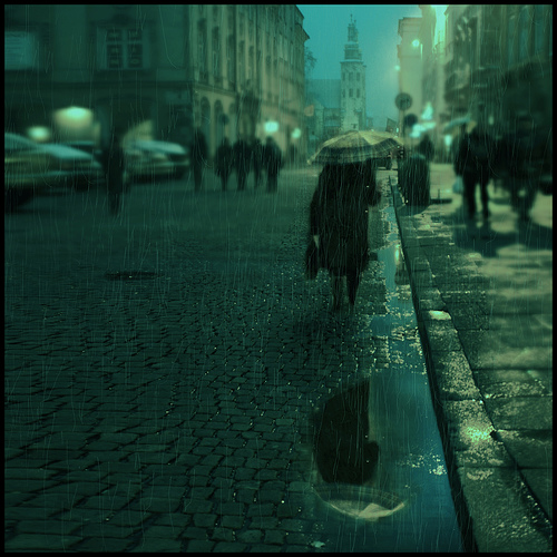 Rain in Cracow