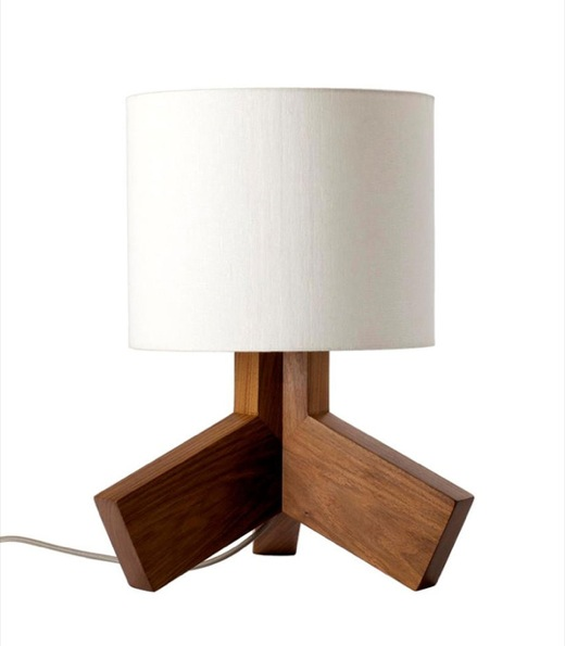Solid Walnut Table Lamp can Stand on one leg Rook by Bludot 1