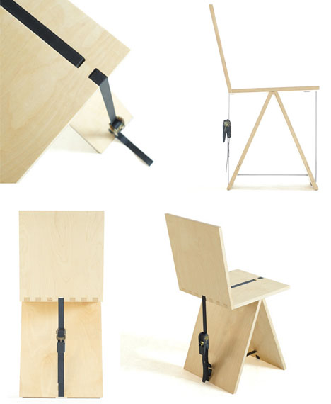 Strap Wooden Composite Chair