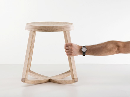 The Monarchy Stool Rocking and Swiveling Stool