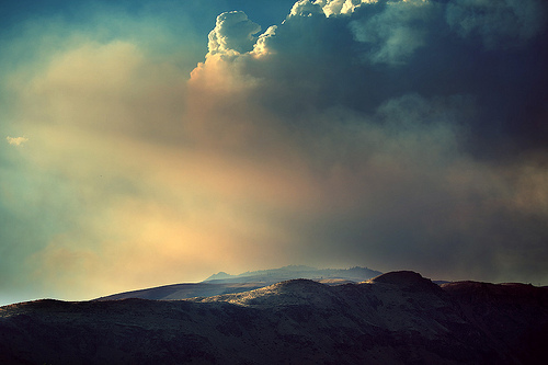 Wild Fire Above Wenatchee