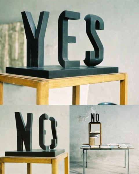 Yesno by Markus Raetz